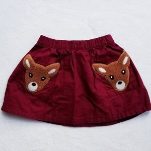 OSHKOSH Woodland Deer Red Skirt